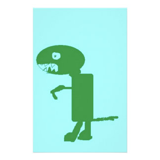 Dinosaurio Dino, arte azulverde de los niños de Papelería