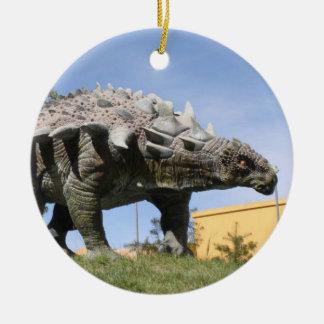 Dinosaurio - dinosaurio del Ankylosaurus en Sucre Ornamento De Navidad