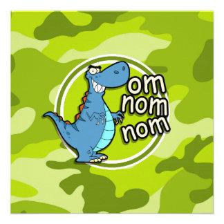 Dinosaurio divertido camo verde claro camuflaje comunicados personales