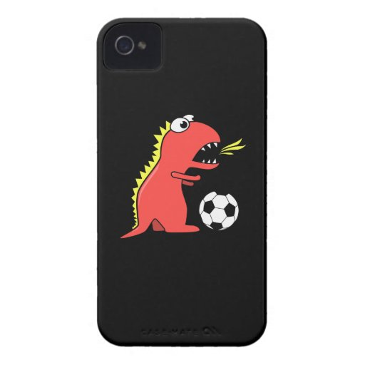 Dinosaurio divertido del dibujo animado que juega  Case-Mate iPhone 4 cobertura