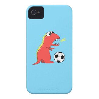 Dinosaurio divertido del dibujo animado que juega iPhone 4 funda