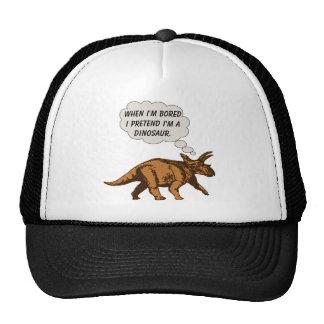 Dinosaurio divertido del Triceratops Gorro