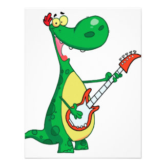 dinosaurio divertido que toca la guitarra anuncios