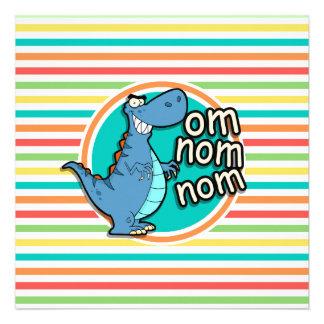 Dinosaurio divertido Rayas brillantes del arco Anuncios