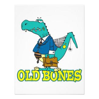 dinosaurio divertido Toon de Dino de los huesos vi Invitaciones Personales