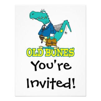 dinosaurio divertido Toon de Dino de los huesos vi Anuncio Personalizado