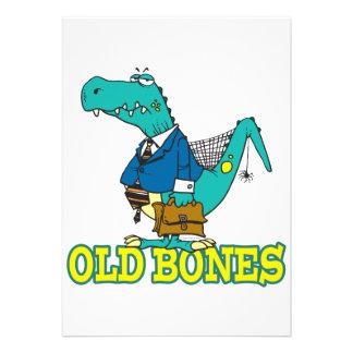 dinosaurio divertido Toon de Dino de los huesos vi Invitación