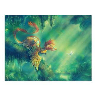Dinosaurio emplumado Microraptor Tarjetas Postales