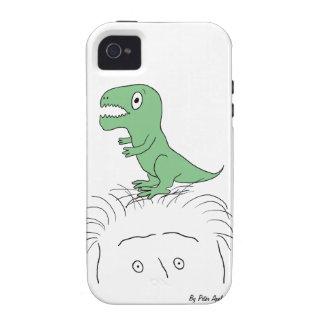 ¡Dinosaurio en mi cabeza casamata del iPhone 4 du iPhone 4/4S Fundas
