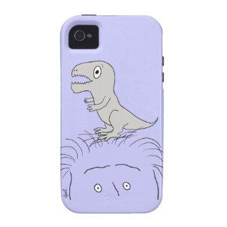 ¡Dinosaurio en mi cabeza casamata del iPhone 4 du iPhone 4 Fundas