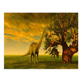 dinosaurio extinto del brontosaurus tarjetas postales