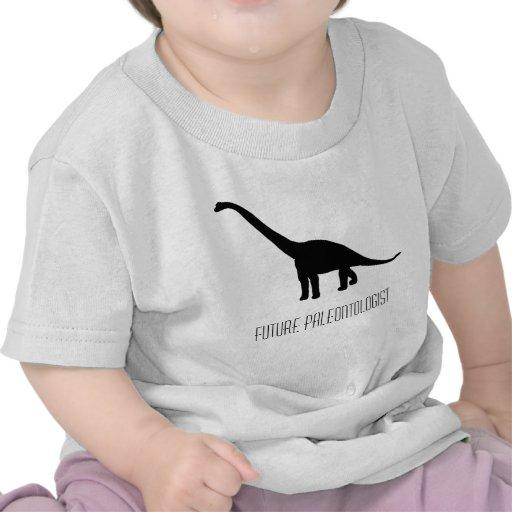 Dinosaurio futuro del paleontólogo camisetas