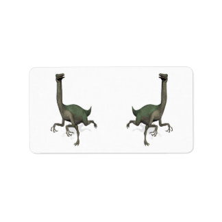 Dinosaurio Gallimimus de Dino Etiquetas De Dirección