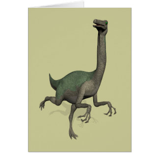 Dinosaurio Gallimimus de Dino Tarjeta De Felicitación
