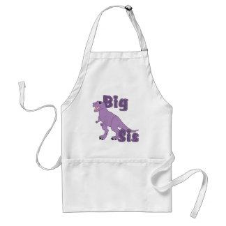 Dinosaurio grande de la púrpura del SIS Delantal