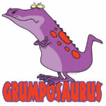 Dinosaurio gruñón Dino de Grumposaurus Escultura Fotográfica