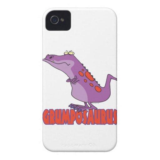 Dinosaurio gruñón Dino de Grumposaurus Case-Mate iPhone 4 Carcasa