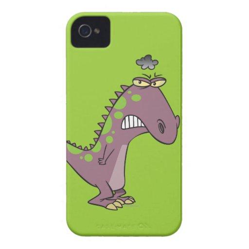 dinosaurio gruñón triste tonto Dino iPhone 4 Case-Mate Fundas