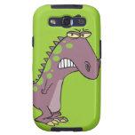 dinosaurio gruñón triste tonto Dino Galaxy S3 Carcasas