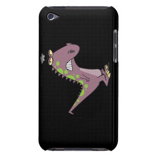 dinosaurio gruñón triste tonto Dino iPod Touch Funda