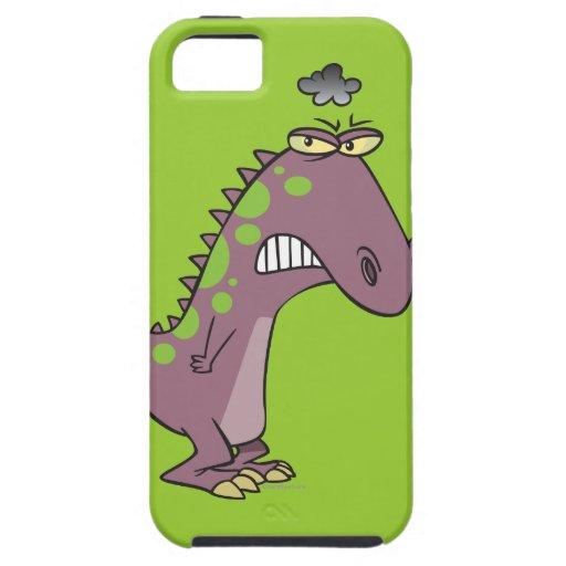 dinosaurio gruñón triste tonto Dino iPhone 5 Protectores