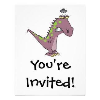 dinosaurio gruñón triste tonto Dino Invitacion Personalizada