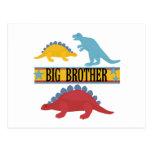 Dinosaurio hermano mayor tarjetas postales