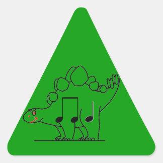 Dinosaurio IPA Pegatina Triangular
