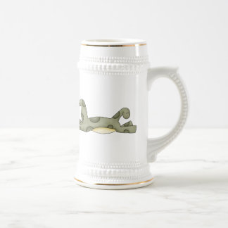 Dinosaurio juguetón jarra de cerveza