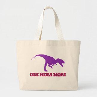 Dinosaurio lindo de Omnom Bolsa Lienzo