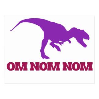 Dinosaurio lindo de Omnom Tarjeta Postal