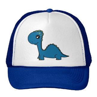 Dinosaurio lindo del bebé azul gorros