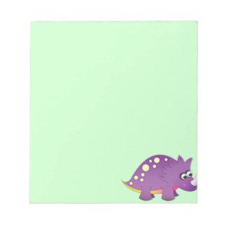 Dinosaurio lindo del dibujo animado blocs