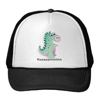 Dinosaurio lindo del dibujo animado gorro de camionero