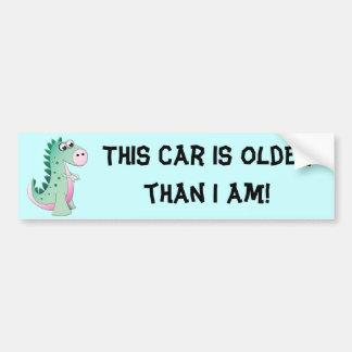 Dinosaurio lindo del dibujo animado pegatina para auto