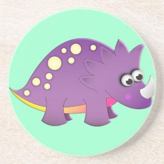 Dinosaurio lindo del dibujo animado posavasos para bebidas