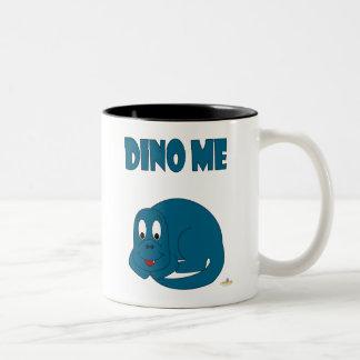 Dinosaurio lindo Dino de los azules cielos yo Taza De Dos Tonos