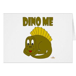 Dinosaurio lindo Dino del amarillo del bebé yo Felicitación