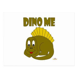 Dinosaurio lindo Dino del amarillo del bebé yo Tarjetas Postales