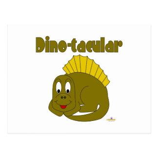 Dinosaurio lindo Dino-tacular del amarillo del beb Tarjeta Postal