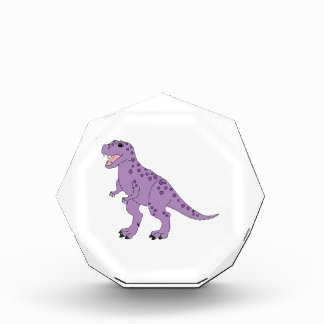 Dinosaurio lindo manchado púrpura de T-Rex