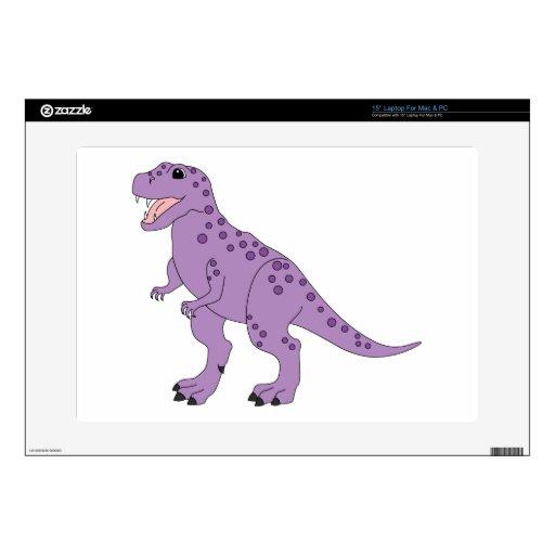 Dinosaurio lindo manchado púrpura de T-Rex 38,1cm Portátil Calcomanías