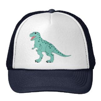 Dinosaurio lindo manchado verde de T-Rex Gorros Bordados