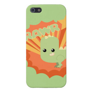 Dinosaurio lindo Rawr iPhone 5 Carcasa