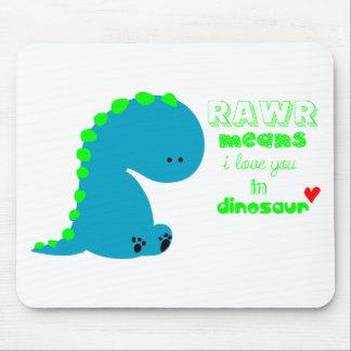 Dinosaurio lindo RAWR Tapete De Ratón