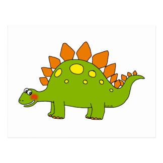 Dinosaurio lindo - stegosaurus tarjetas postales