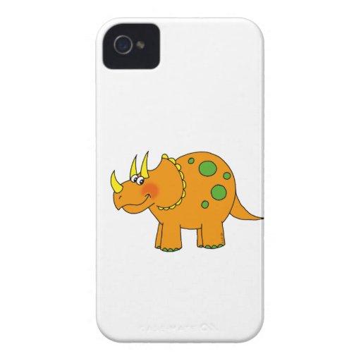 Dinosaurio lindo - triceratops iPhone 4 fundas