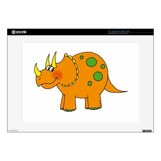 Dinosaurio lindo - triceratops skins para portátiles