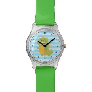 Dinosaurio lindo y feliz para los niños relojes de pulsera