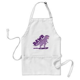 Dinosaurio manchado púrpura de RAWR T-Rex Delantales